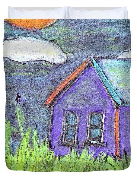 Left Behind Duvet Cover by Wayne Potrafka