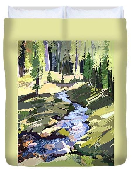 Lena Peak Stream Duvet Cover