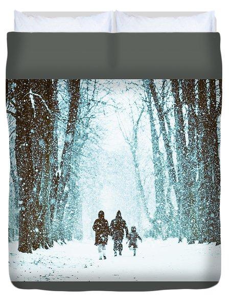 Let It Snow Duvet Cover by Marji Lang