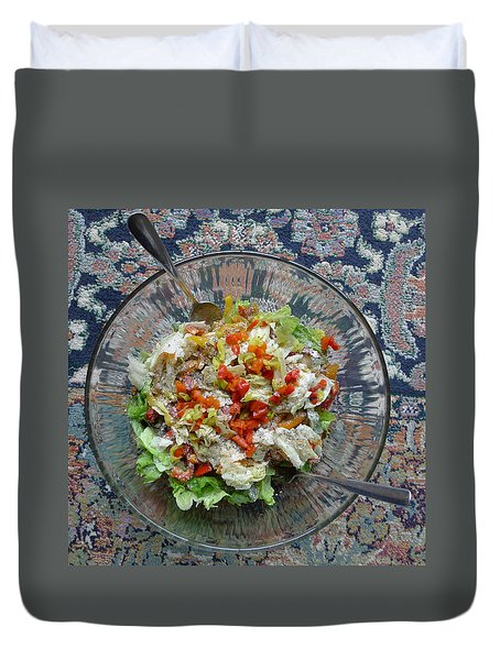 Duvet Cover featuring the photograph Lets Do Lunch by Joel Deutsch