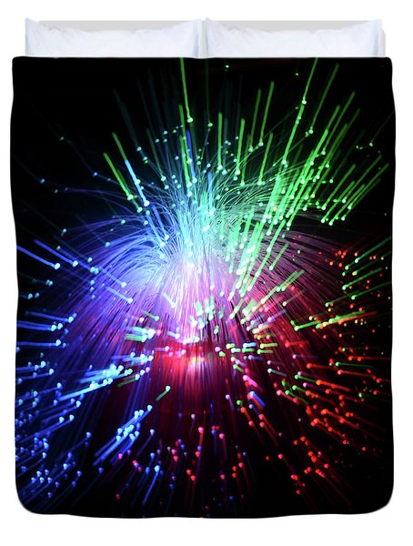 Light Burst-1 Duvet Cover