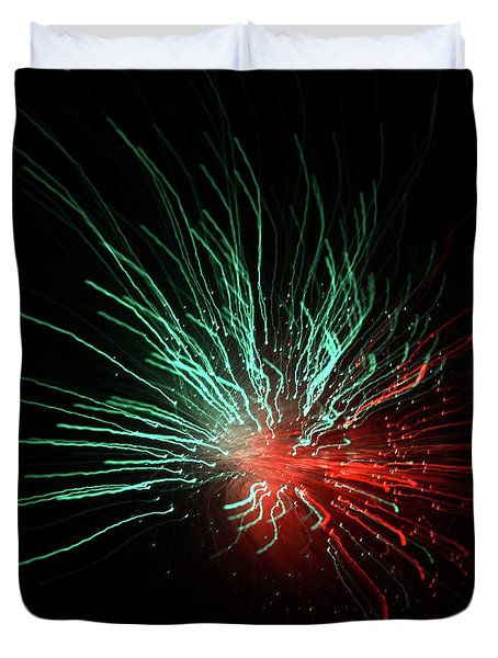 Light Burst-3 Duvet Cover