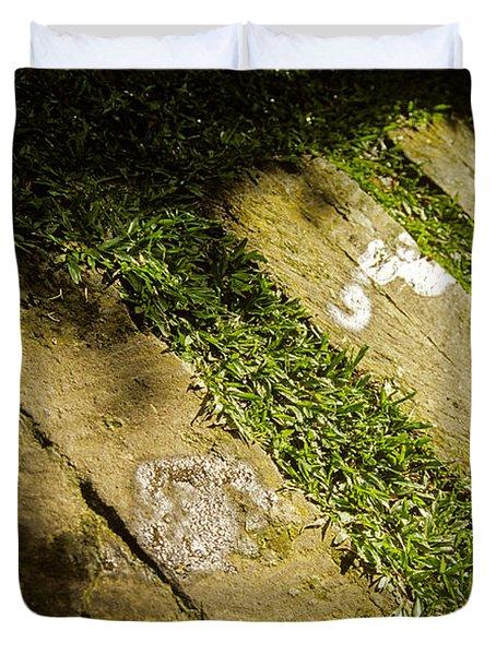 Light Footsteps In The Garden Duvet Cover