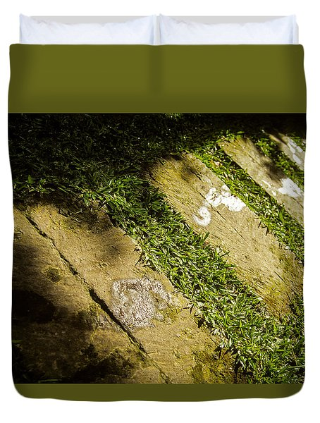 Duvet Cover featuring the photograph Light Footsteps In The Garden by T Brian Jones