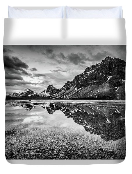 Light On The Peak Duvet Cover