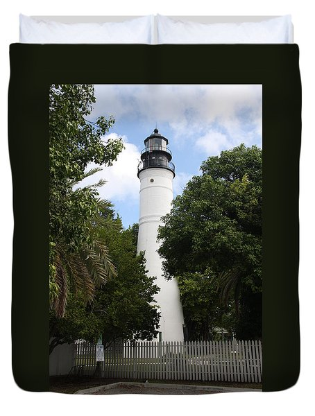 Lighthouse - Key West Duvet Cover by Christiane Schulze Art And Photography