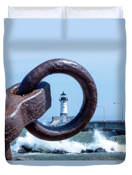 Lighthouse Thru The Hole Duvet Cover