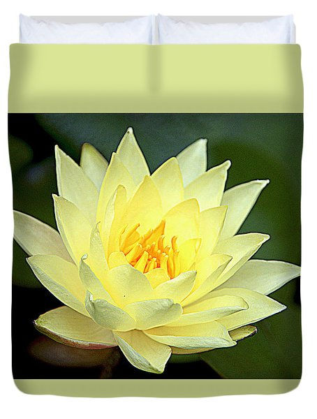 Duvet Cover featuring the photograph Lily by Jerry Cahill
