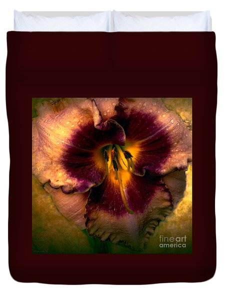 Duvet Cover featuring the photograph Lily by Mim White