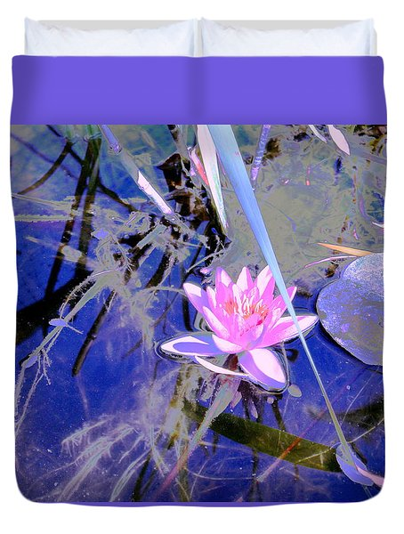 Lily Pond Pink Duvet Cover