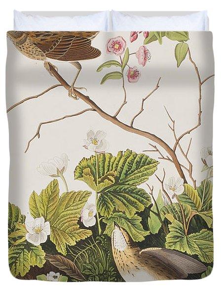 Lincoln Finch Duvet Cover by John James Audubon