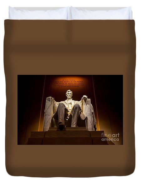 Lincoln Memorial At Night - Washington D.c. Duvet Cover
