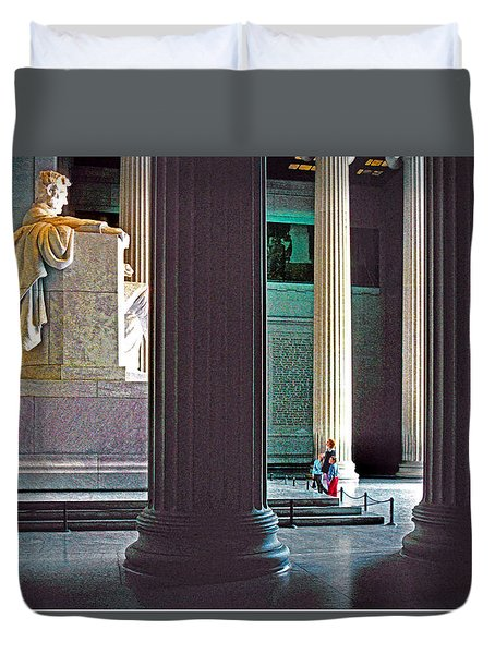 Lincoln Memorial Duvet Cover by Dennis Cox