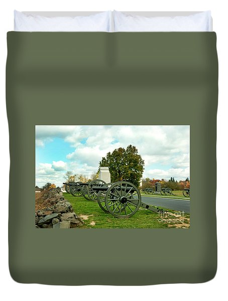 Duvet Cover featuring the photograph Line Of Fire by Paul W Faust - Impressions of Light