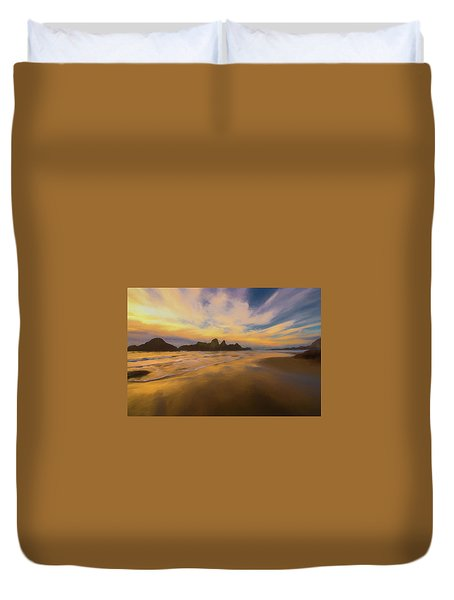 Lines In The Sand 2 Duvet Cover