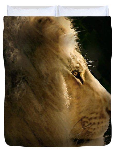 Lion Of Judah II Duvet Cover by Sharon Foster