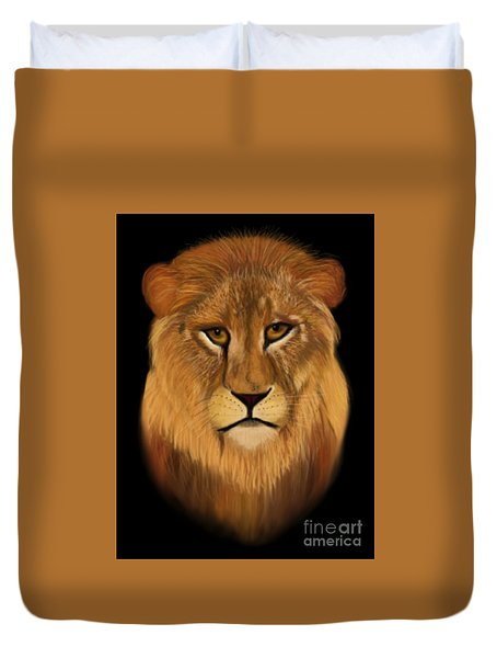 Lion - The King Of The Jungle Duvet Cover