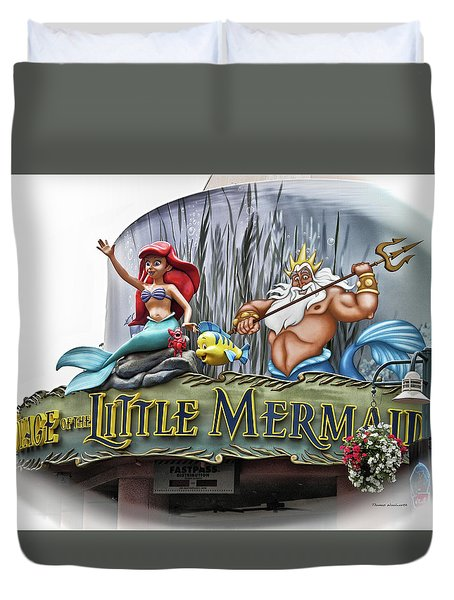 Little Mermaid Signage Mp Duvet Cover
