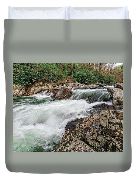 Duvet Cover featuring the photograph Little River  by Alan Raasch