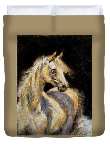 Little White Mare Duvet Cover
