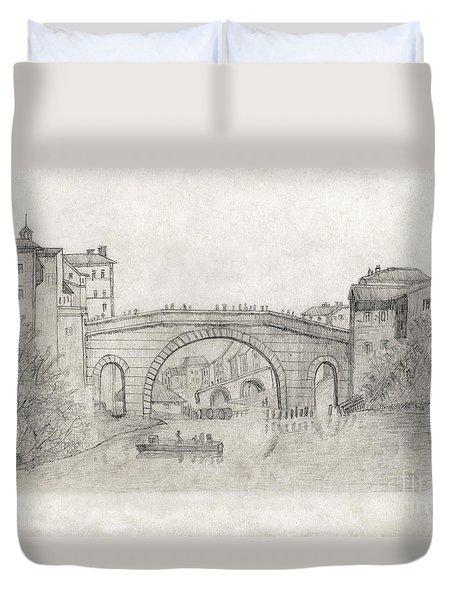 Liverpool Bridge Duvet Cover