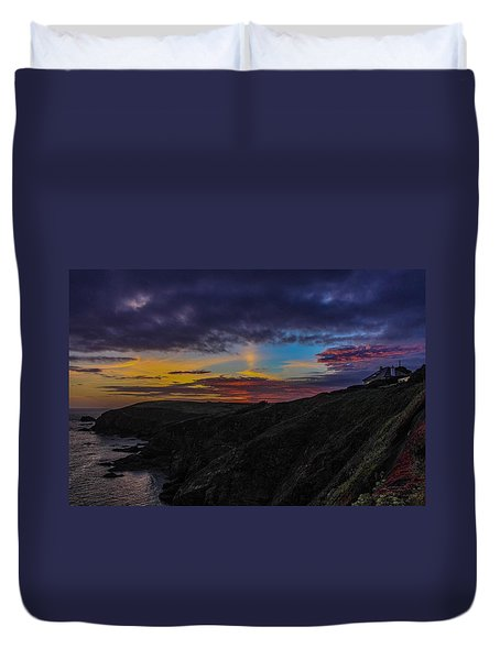 Lizard Point At Sunset  Duvet Cover by Claire Whatley