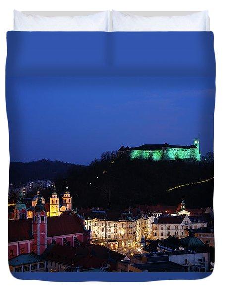 Ljubljana Castle Duvet Cover