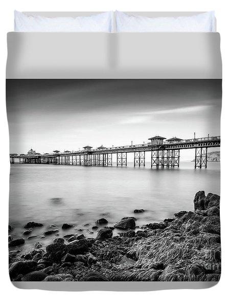 Duvet Cover featuring the photograph Llandudno Pier by Adrian Evans