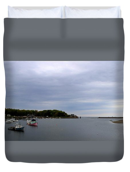 Lobster Boats Duvet Cover