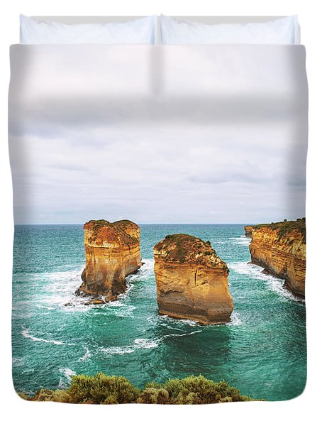 Loch Ard Gorge  In Victoria, Australia, Near Port Campbell Duvet Cover