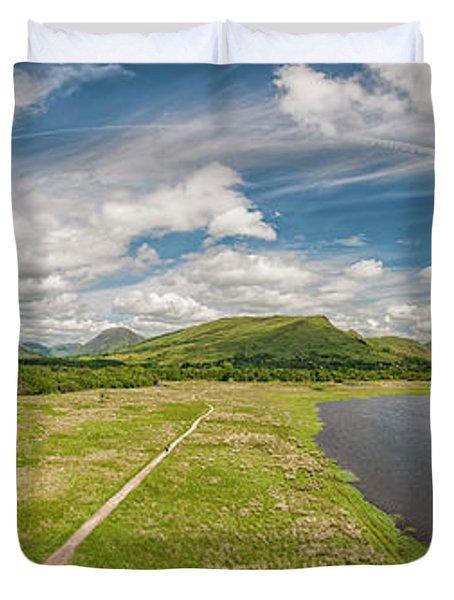 Loch Awe Panorama Duvet Cover