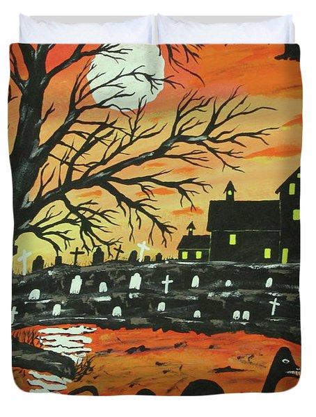 Loch Ness Monster This  Halloween Duvet Cover