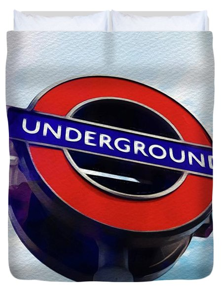 London Underground Duvet Cover