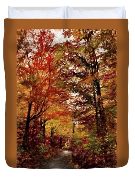 Long And Winding Road Duvet Cover