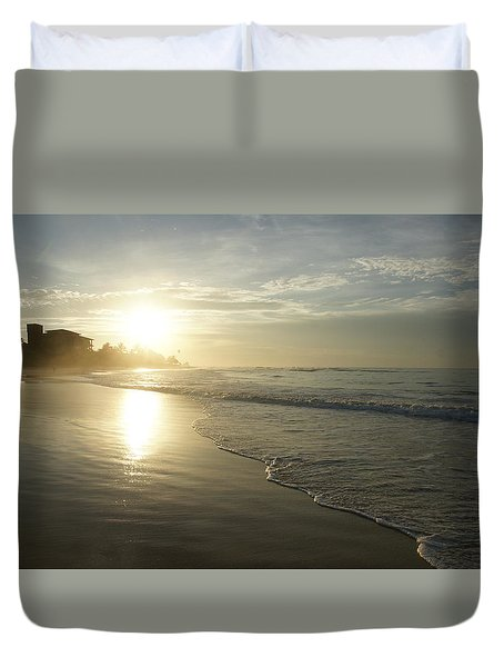 Duvet Cover featuring the photograph Long Beach Kogalla by Christian Zesewitz