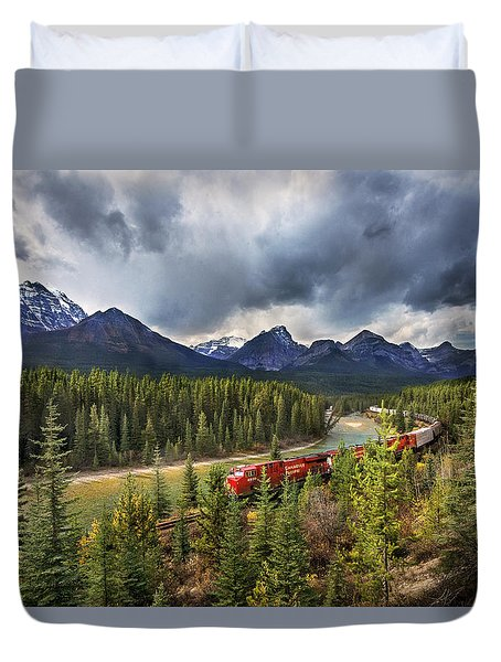 Duvet Cover featuring the photograph Long Train Running by John Poon