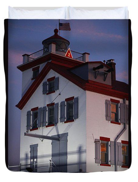 Lorain Lighthouse Duvet Cover