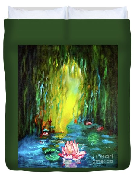 Lotus And Lily Pads Duvet Cover