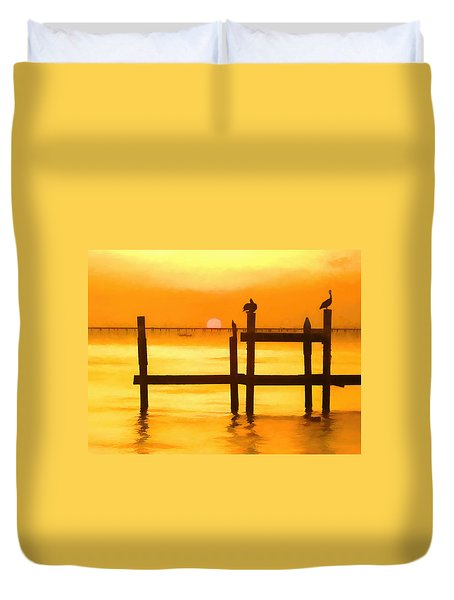 Louisiana Evening Duvet Cover