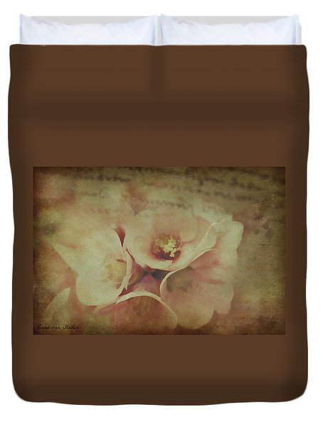 Duvet Cover featuring the digital art Love Letters  by Riana Van Staden