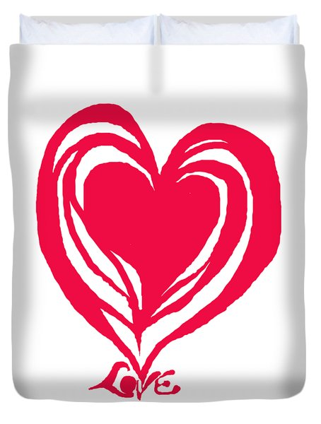 Love In Red Duvet Cover by Mary Armstrong