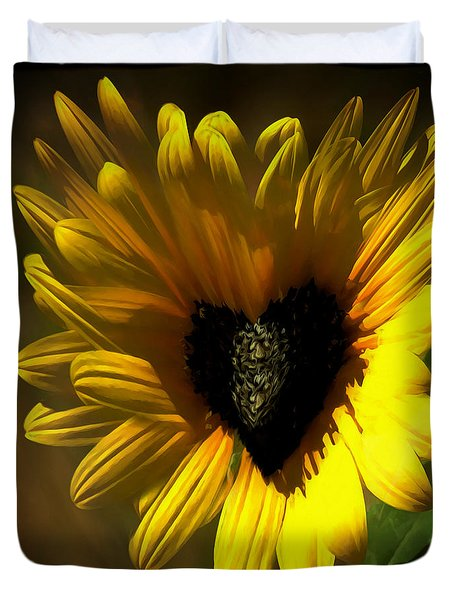 Love Sunflower Duvet Cover