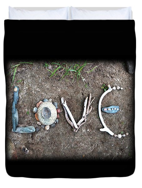 Love Duvet Cover by Tanielle Childers