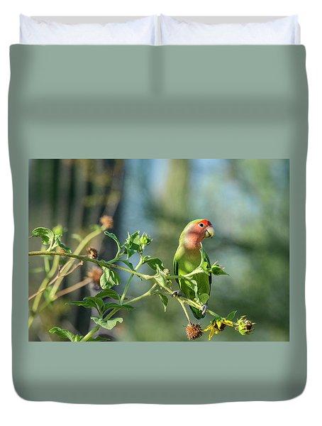 Lovely Little Lovebird  Duvet Cover