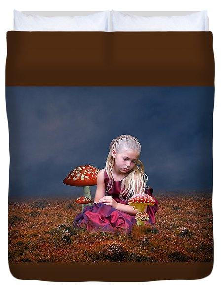 Duvet Cover featuring the mixed media Loving Life by Marvin Blaine