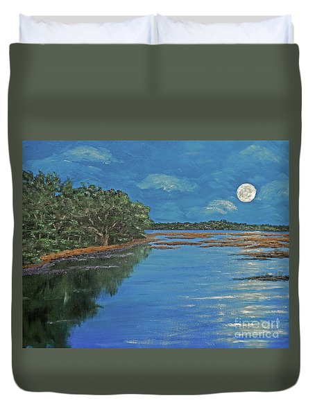 Lowcountry Moon Duvet Cover