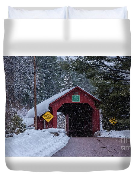 Lower Covered Bridge Duvet Cover
