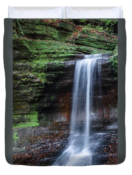 Lower Dells Falls Matthiessen State Park Oglesby Illinois Duvet Cover