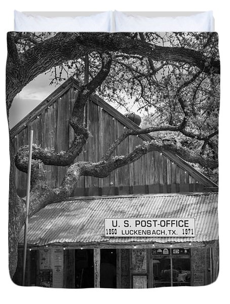 Luckenbach Post Office Duvet Cover