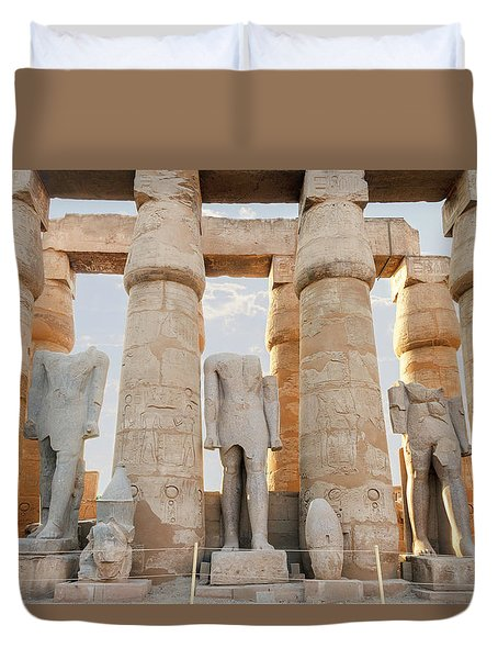 Duvet Cover featuring the photograph Luxor by Silvia Bruno